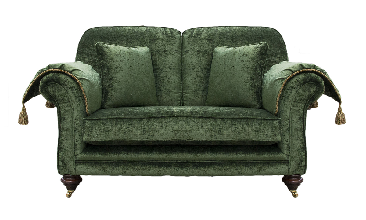 Elton 2 Seater Sofa with Arm Pads (added extra) in Modena 15127 Forest Green side