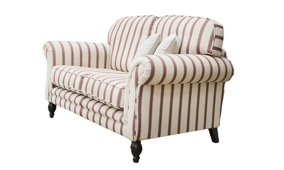 Elton 2 Seater Sofa in Sheldon Stripe (Discontinued Fabric)
