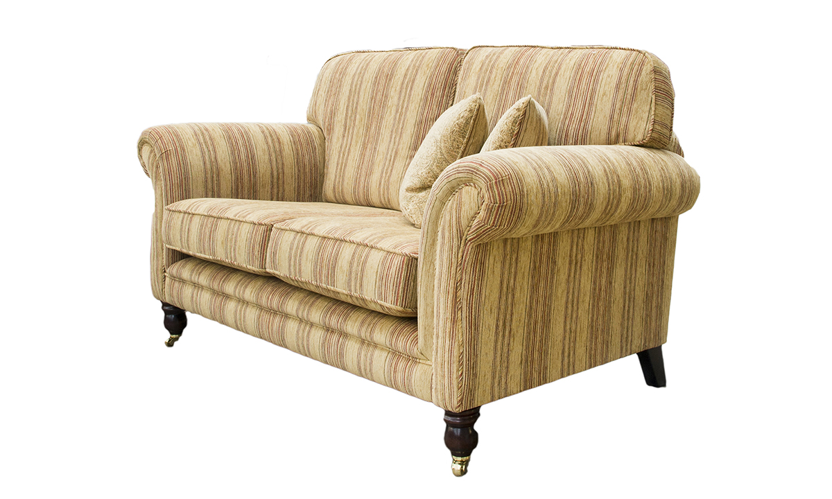 Elton 2 Seater Sofa in Silver Collection Fabric