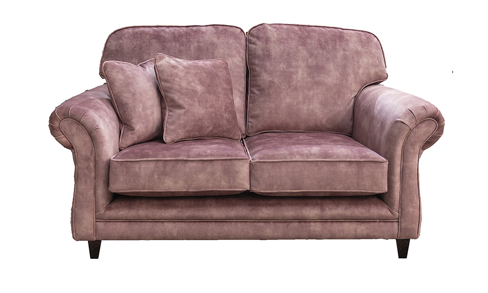 Elton 2 Seater Sofa in Lovely Dusk, Silver Collection Fabric