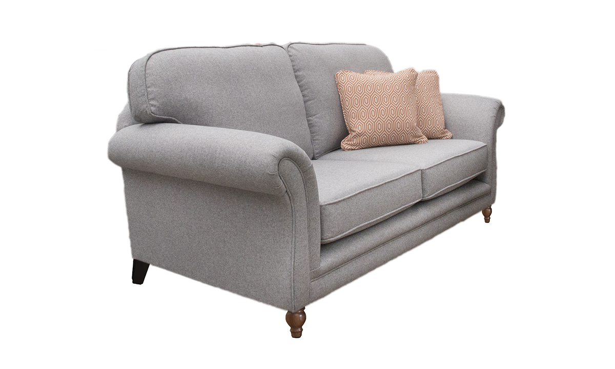 Elton 3 Seater Sofa in Tweed Gallant, Silver Collection