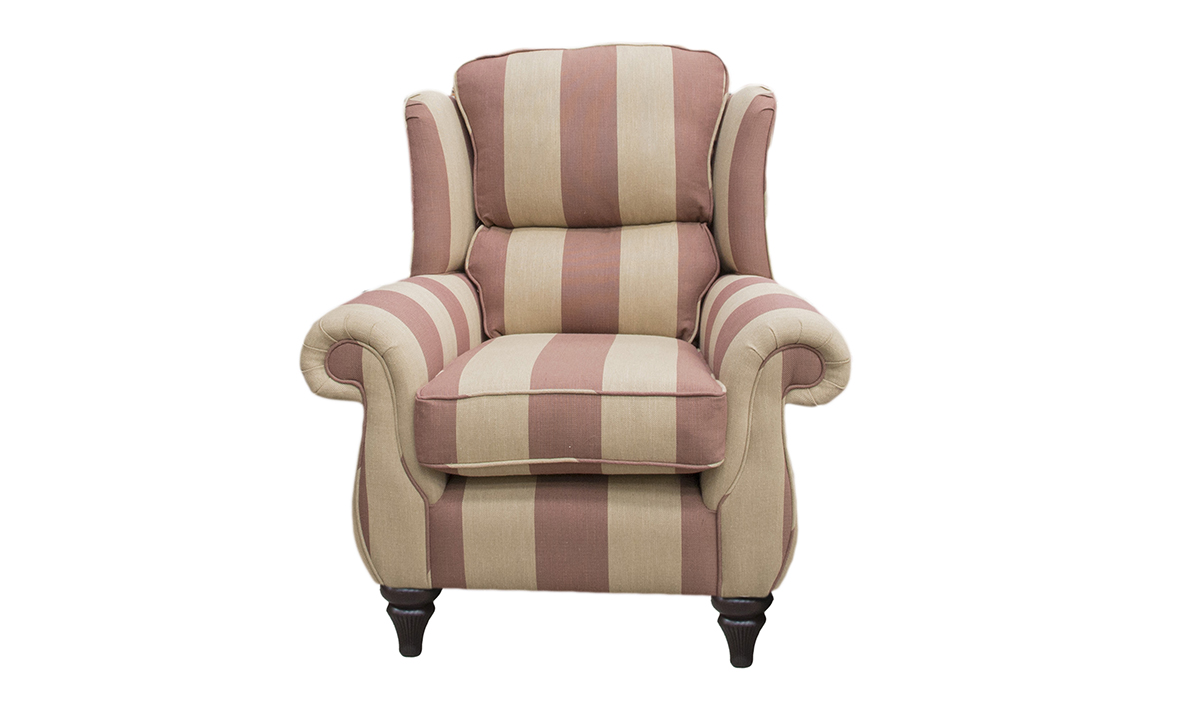 Greville Chair,  Silver Collection Fabric