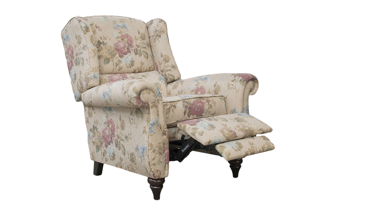 Greville Recliner Chair in Rioma Fiesole Colour 03, Platinum Collection Fabric