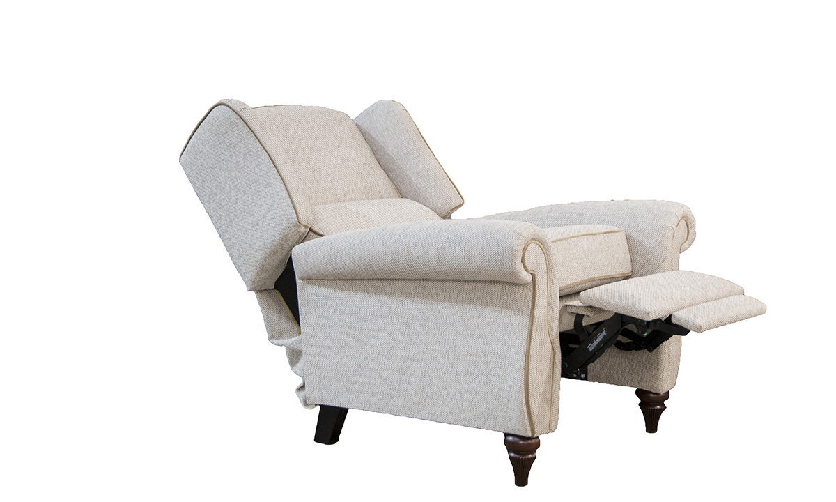 Greville Recliner Chair in Bravo Sand, Silver Collection Fabrics