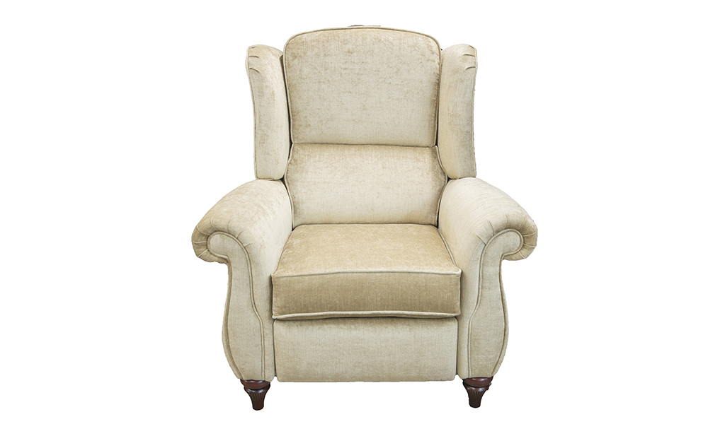 Greville Recliner Chair in Edinburgh Biscuit, Silver Collection of Fabrics