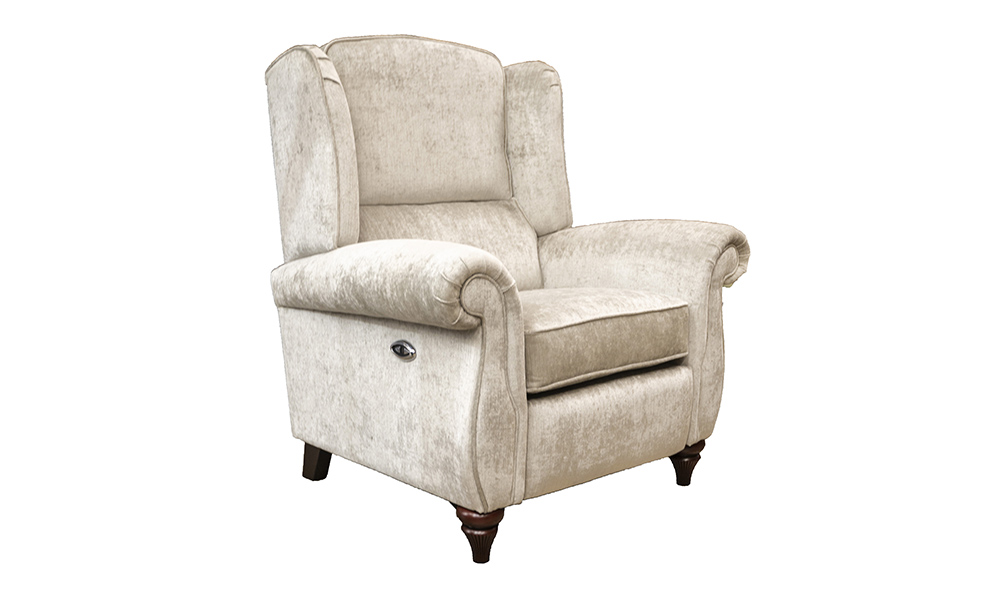 Greville Recliner Chair in Edinburgh French Grey, Silver Collection Fabric