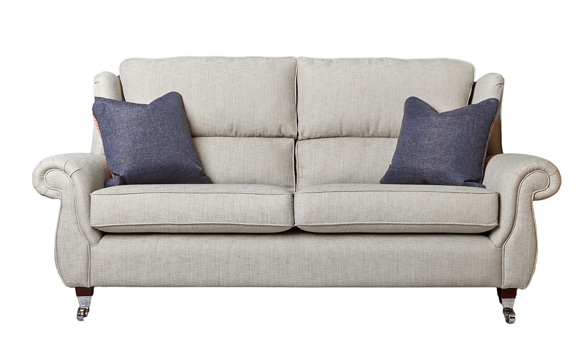 Greville 3 Seater Sofa in Varadi Cinder Plain (Discontinued Fabric)