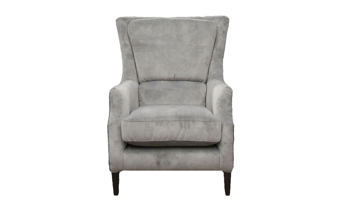 Harvard Chair in Lovely Slate, Gold Collection Fabric