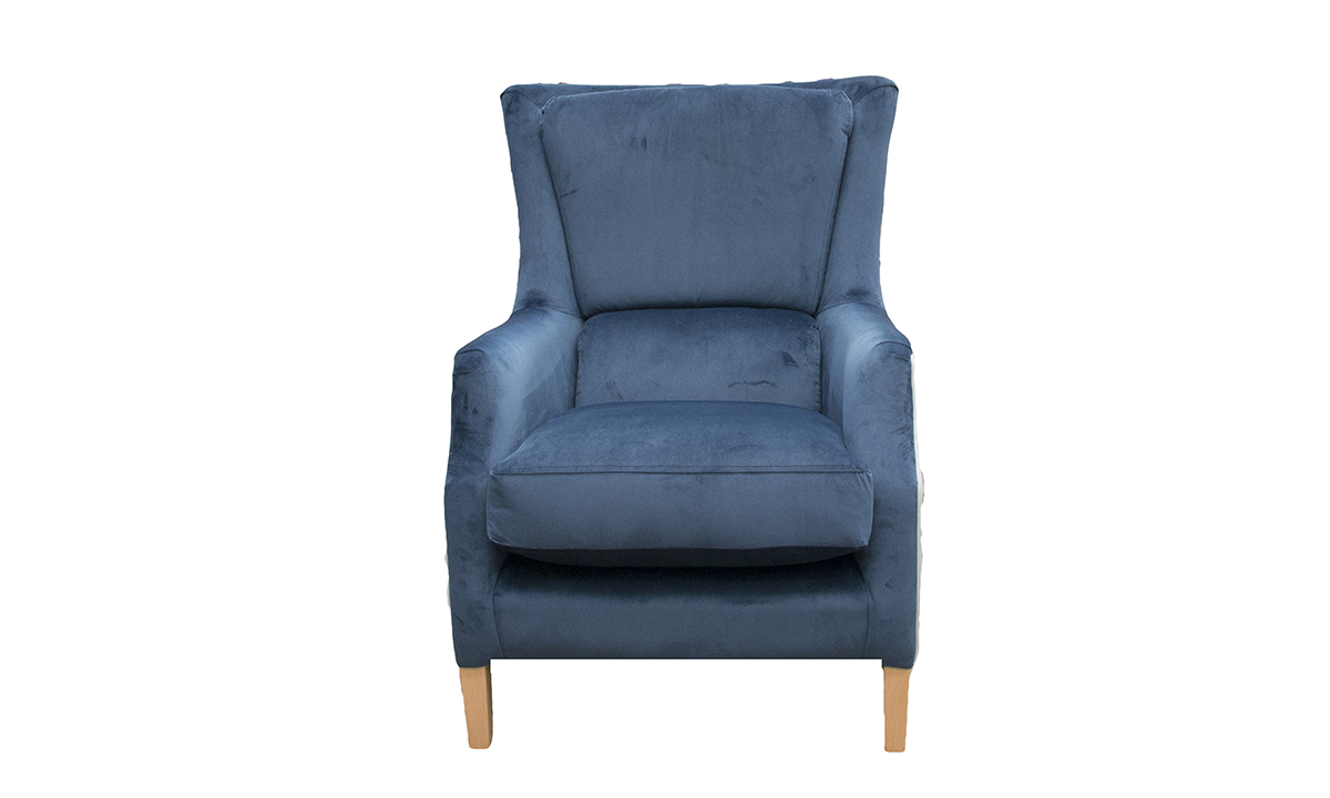 Harvard Chair in Luxor Pacific, Silver Collection Fabric