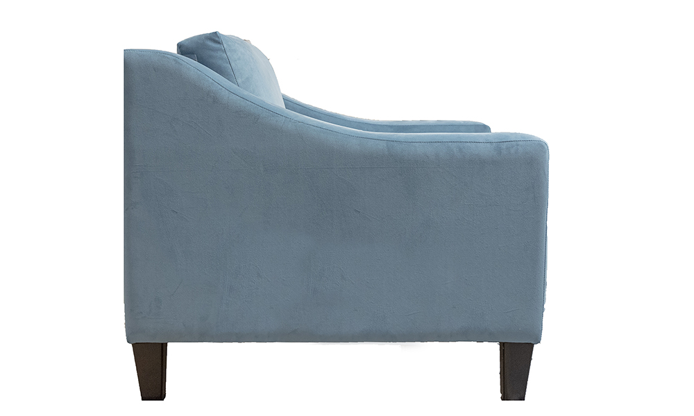Heidi Chair in Plush Airforce, Silver Collection Fabric
