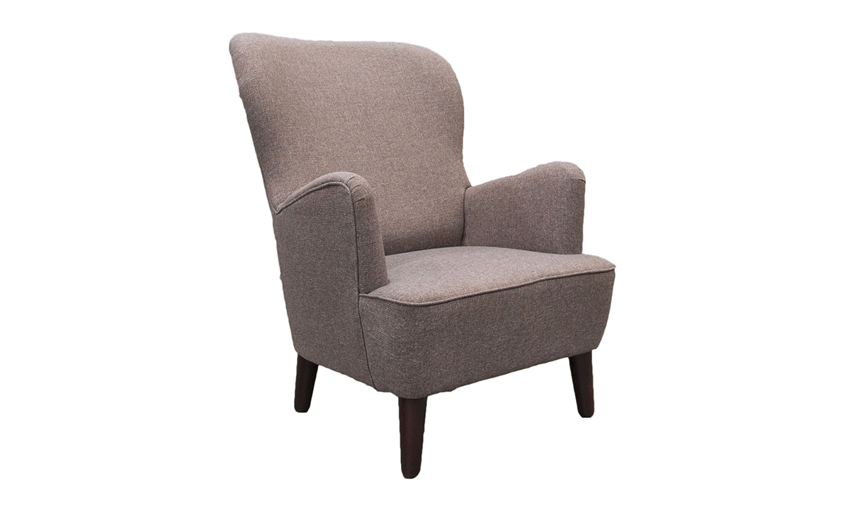 Holly Chair in Ado Chestnut, Bronze Collection Fabric
