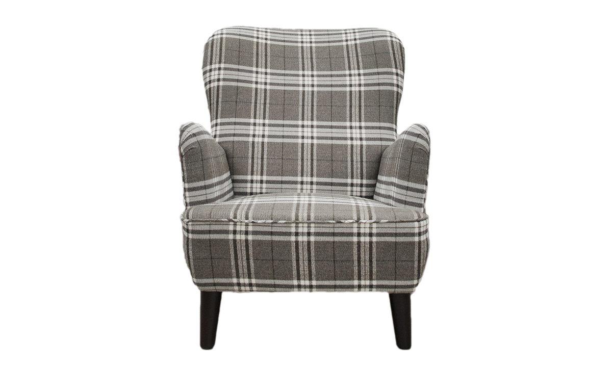 Holly Chair in Lough Lomond Ash , Silver Collection Fabric