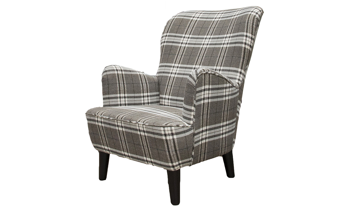 Holly Chair in Lough Lomond Ash, Silver Collection Fabric