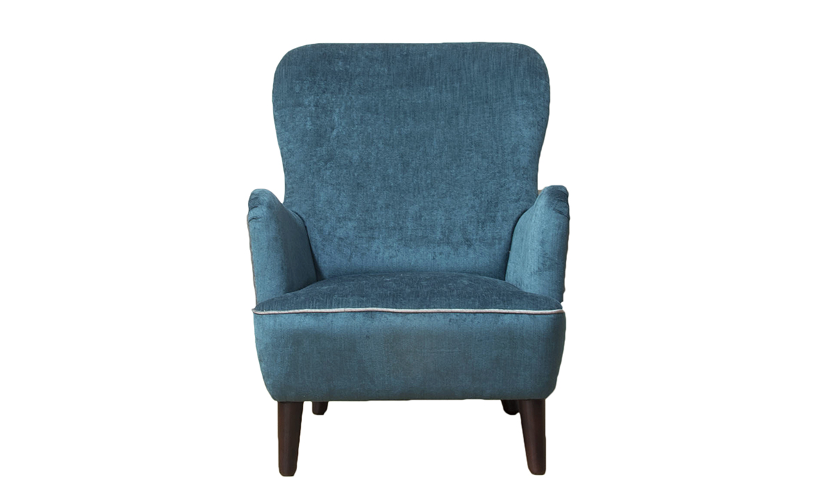 Holly Chair in Silver Collection Fabric
