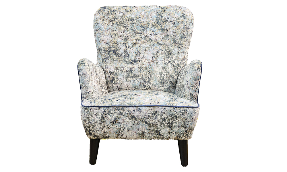 Holly Chair in Igloo Ocean, Platinum Collection Fabric