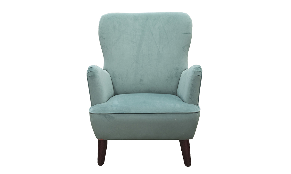 Holly Chair in Warwick Plush Lagoon, Silver Collection of Fabrics