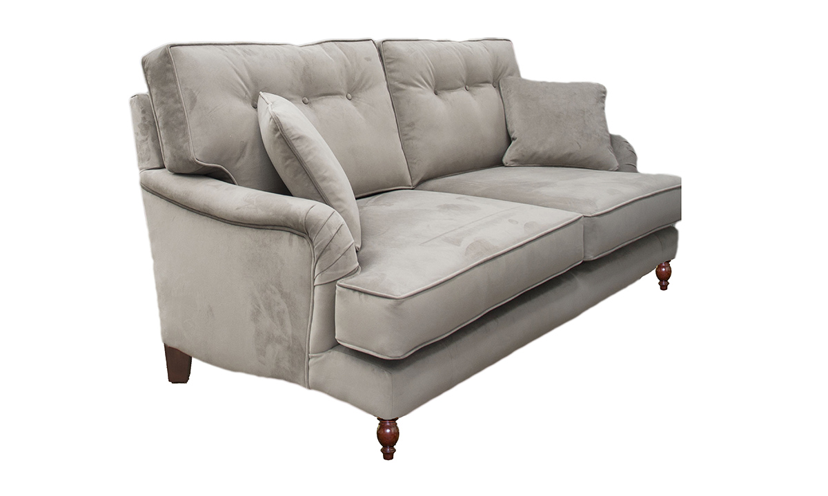 Holmes 2 Seater Sofa with a  Button Back (bespoke option) in Warwick Plush Elephant