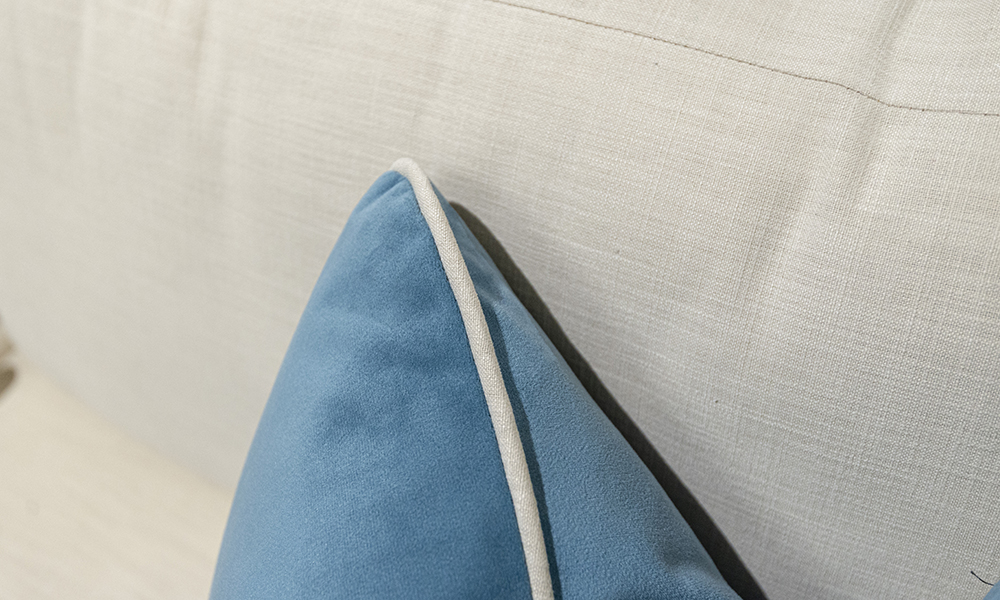 Scatter Cushion in Plush Airforce, Silver Collection