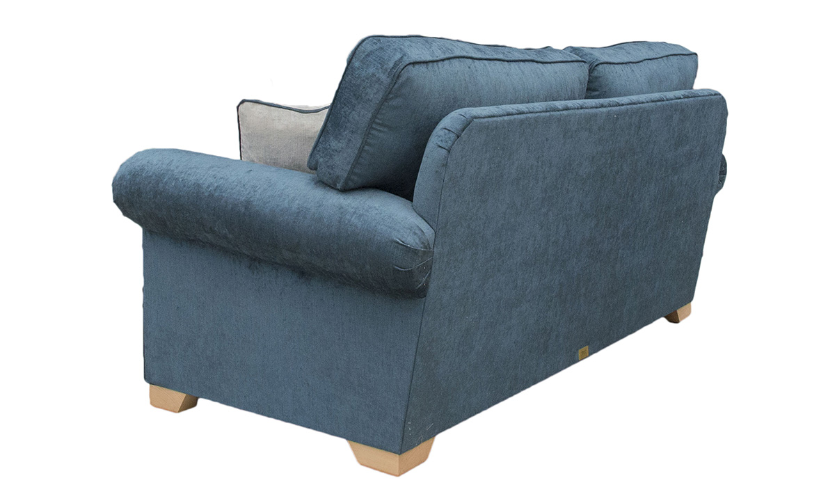 Imperial 3 Seater Sofa in Edinburgh Petrol, Silver Collection Fabric