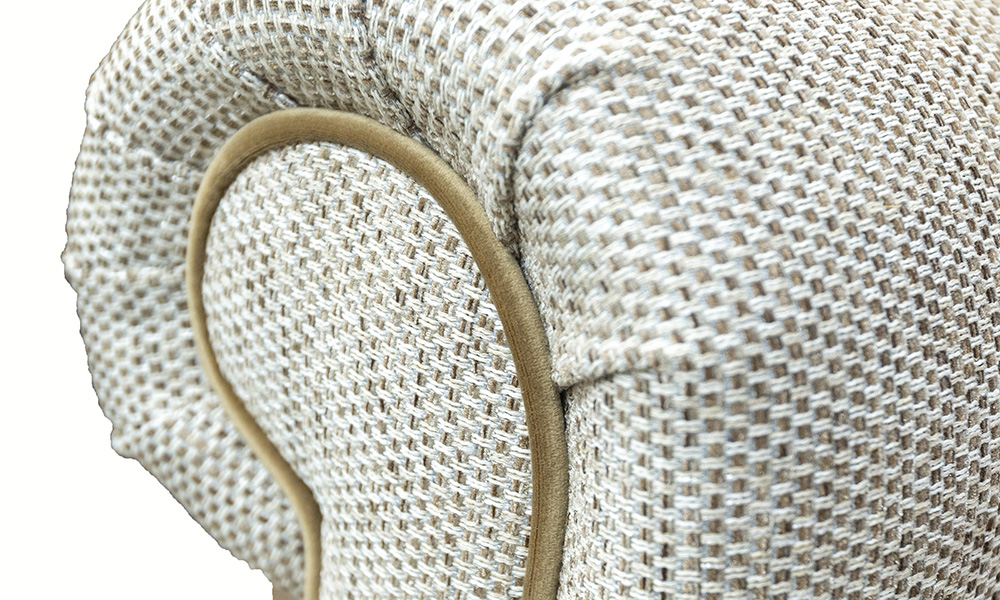 Imperial Chair Arm Bravo Sand, Silver Collection Fabric