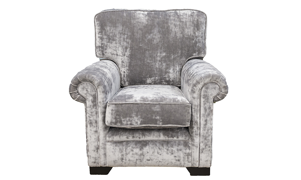 Imperial Chair in Boulder Silver, Platinium Collection Fabric
