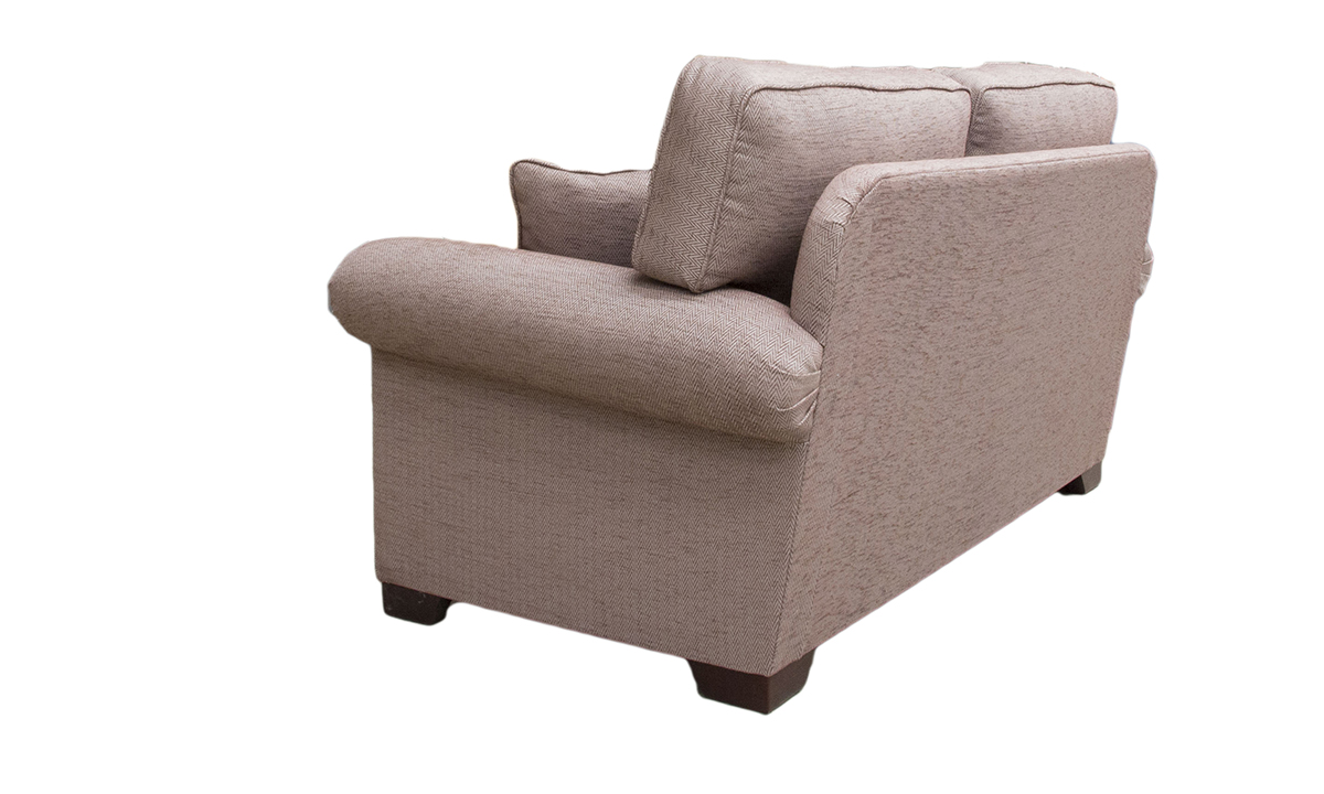Imperial 3 Seater Sofa in Lenora Grape, Silver Collection Fabric