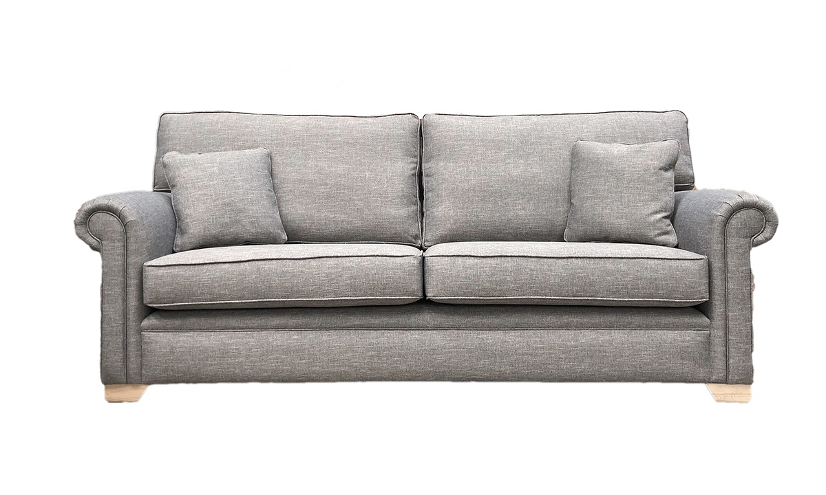 Imperial 3 Seater Sofa in Ado Bark, Bronze Collection Fabric