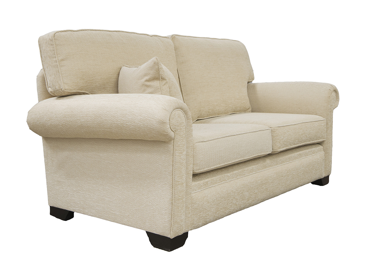 Imperial 3 Seater Sofa in Lenora Vanilla, Silver Collection Fabric