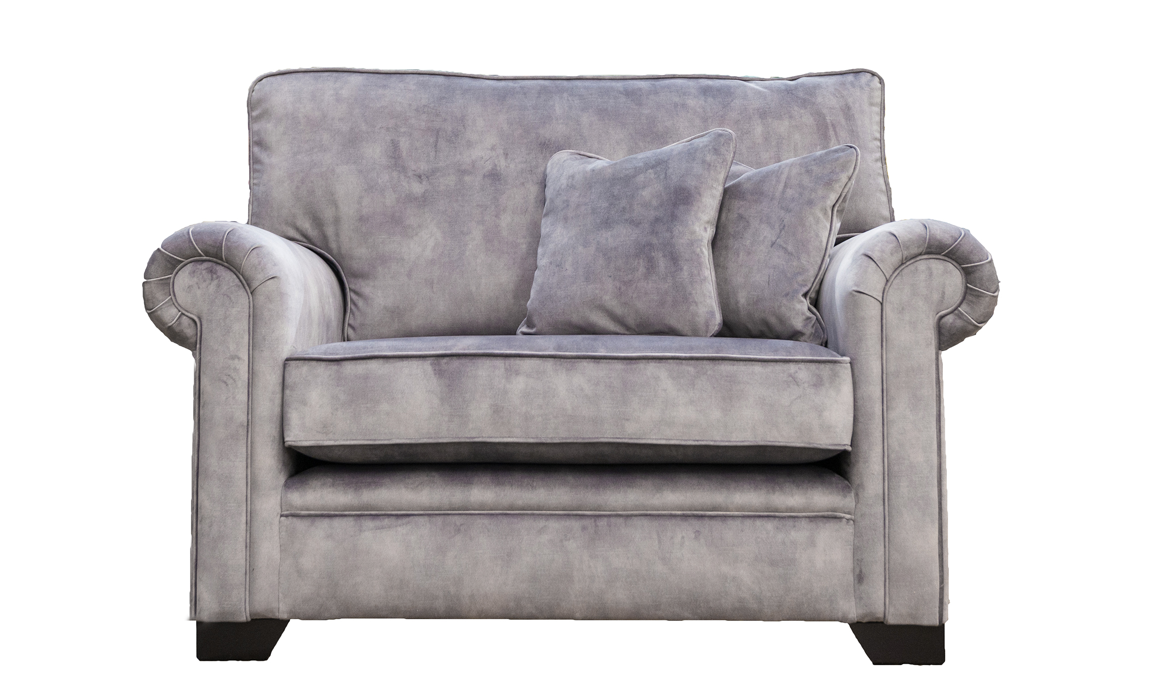 Imperial Love Seat in Lovely Armour, Gold Collection Fabric
