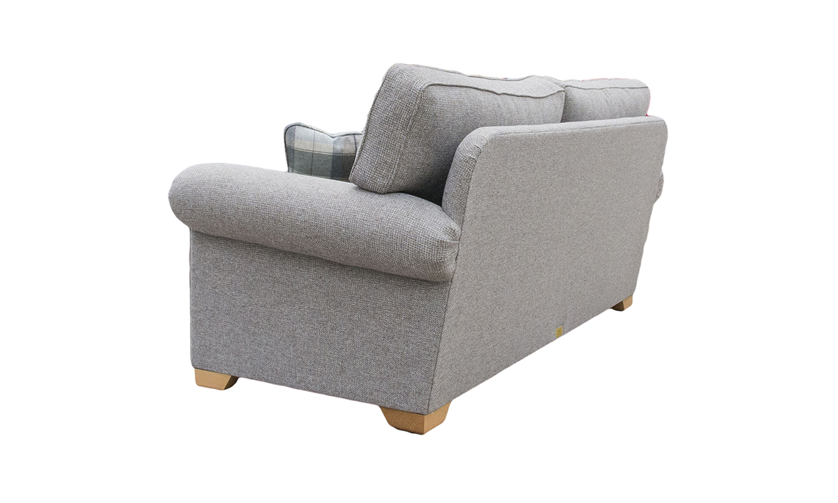Imperial 3 Seater Sofa Milwaukee Grey, Bronze Collection Fabric