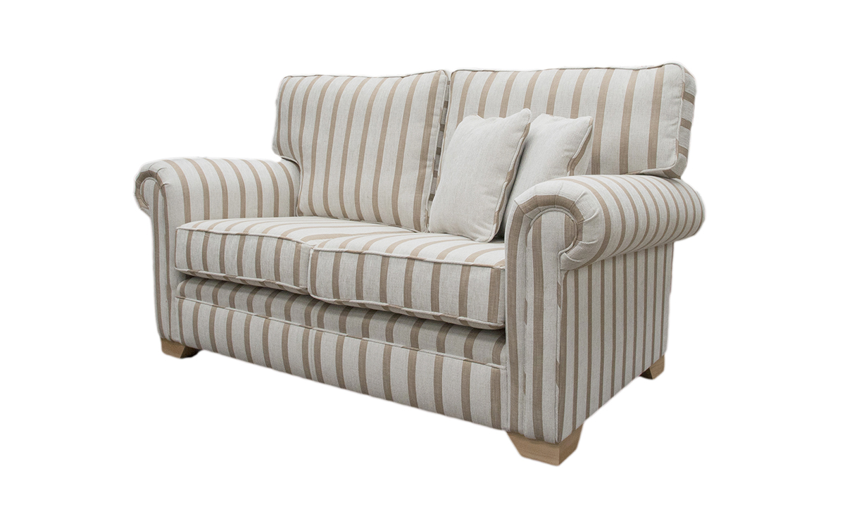 Imperial 3 Seater Sofa in Balamir Stripe Ice, Silver Collection Fabric