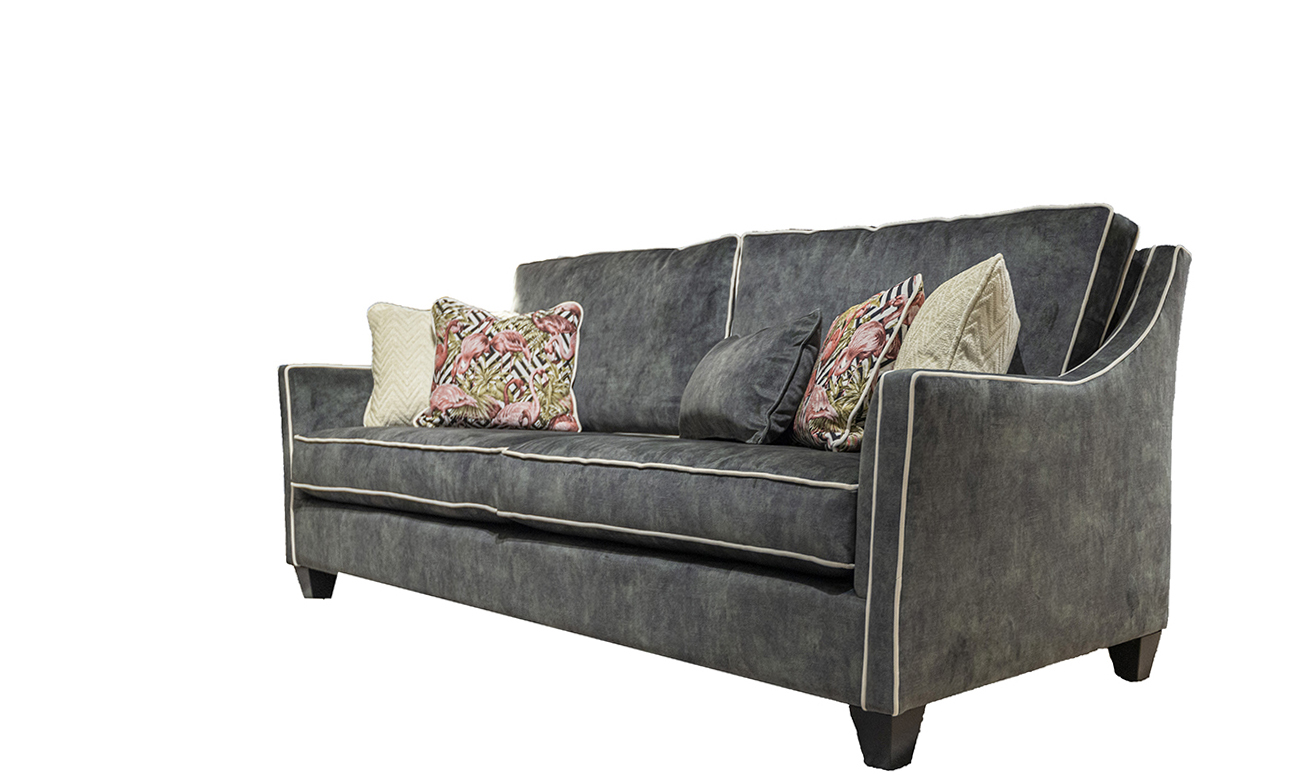 Iris 3 Seater Sofa in Lovely Jade, Gold Collection Fabric