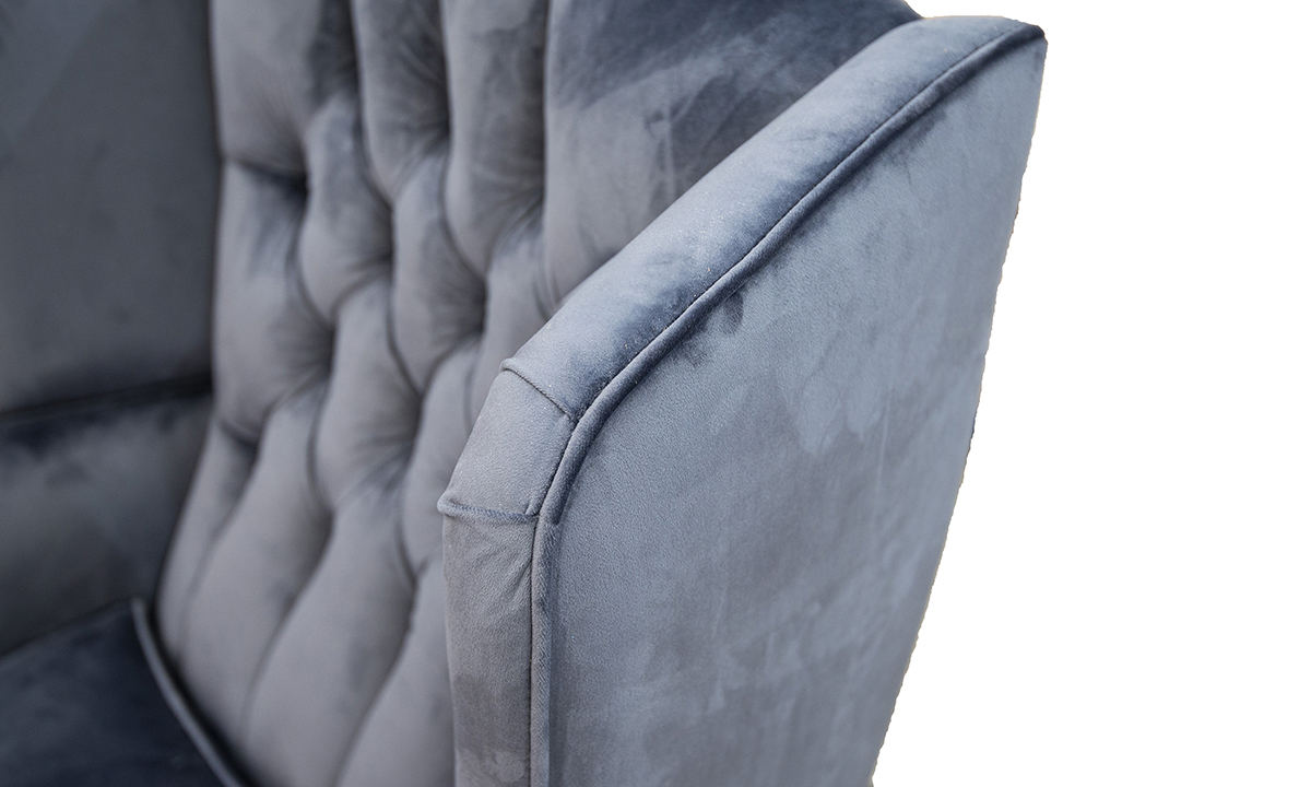 King Chair Deep Button back Discontinued Fabric
