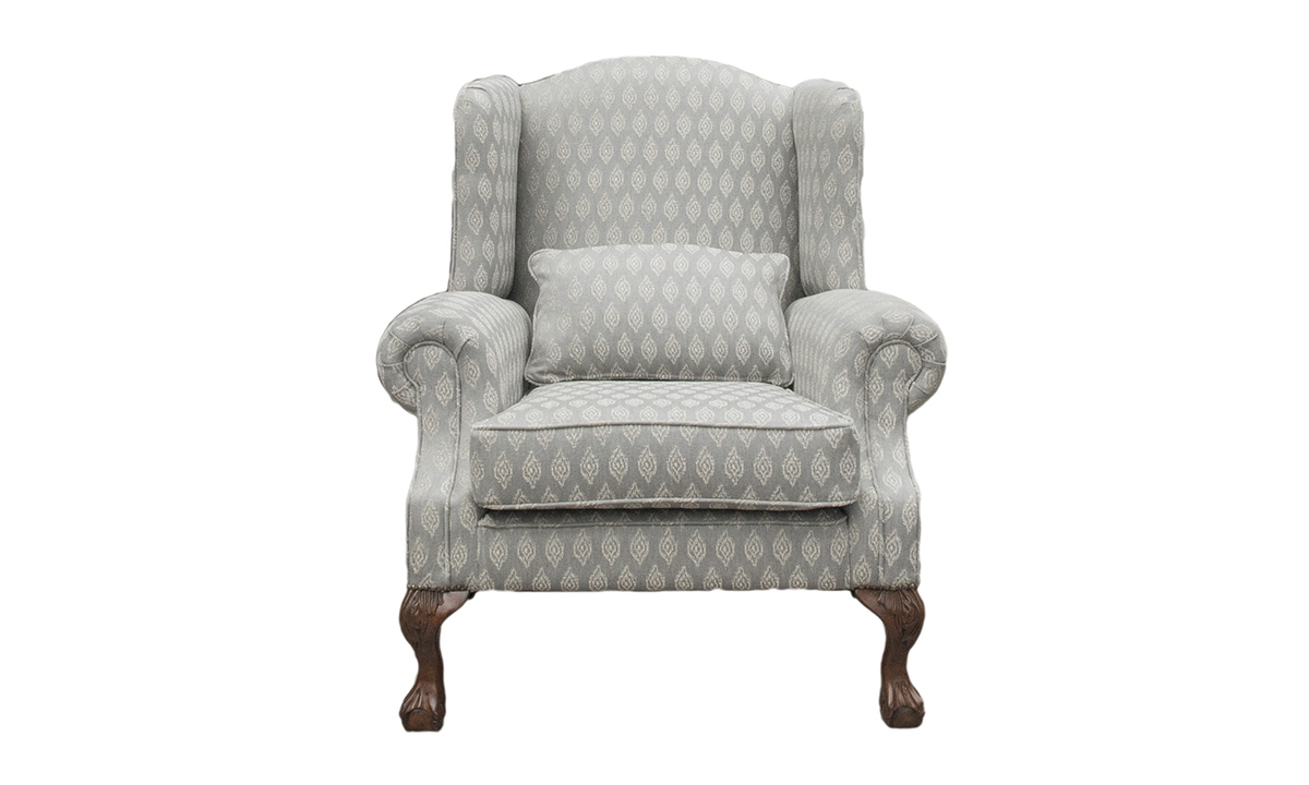 King Chair  in Customers Own Fabric