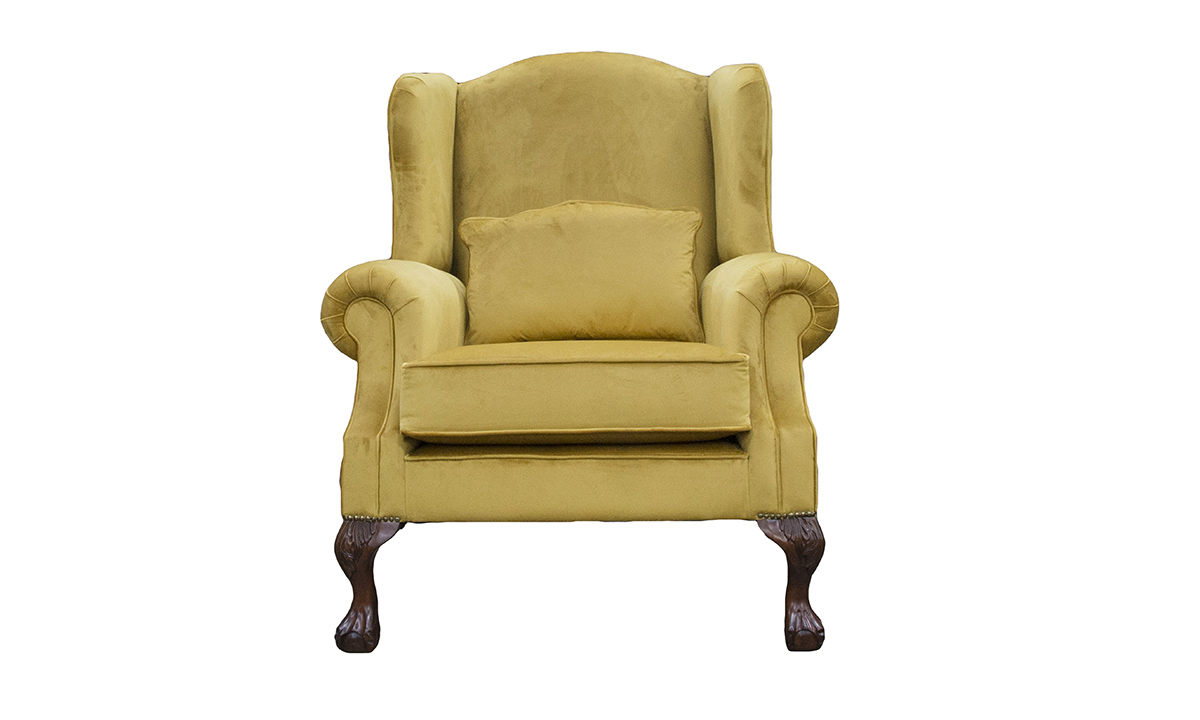 King Chair in Discontinued Fabric
