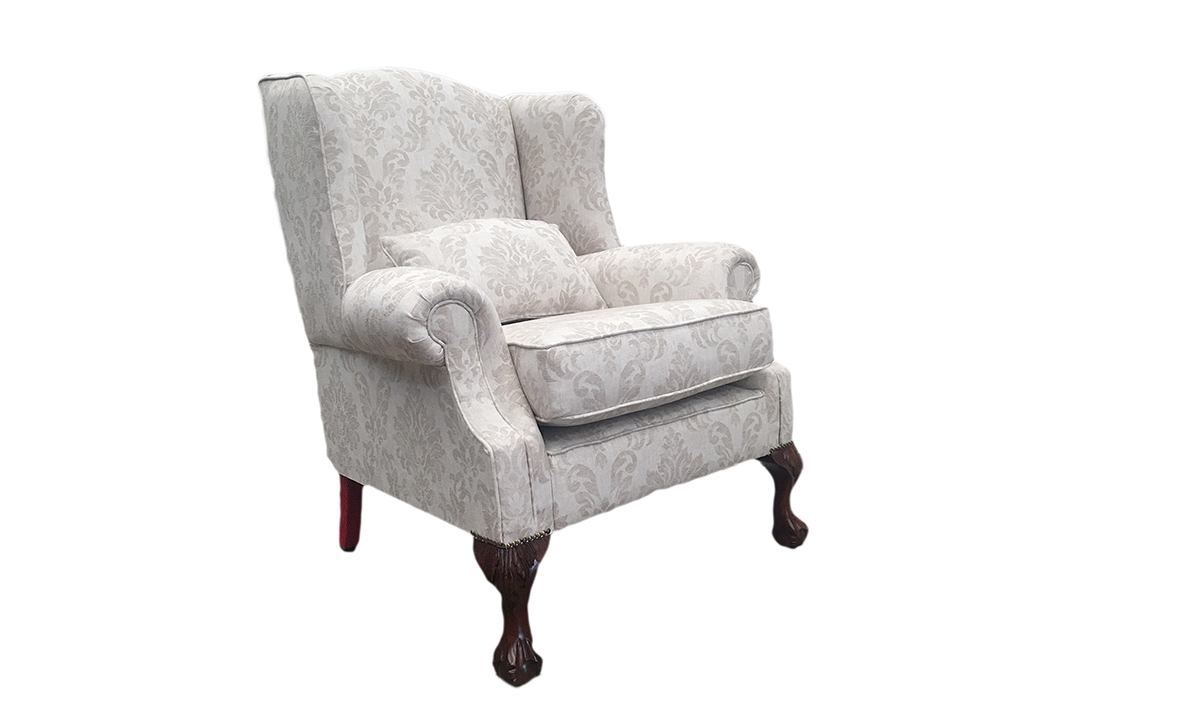 King Chair in Dagano Chalk, Bronze Collection Fabric