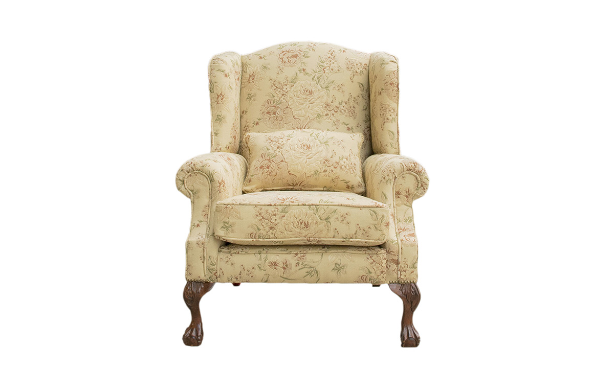 King Chair in Semi ramis pattern, Platinum Collection Fabric