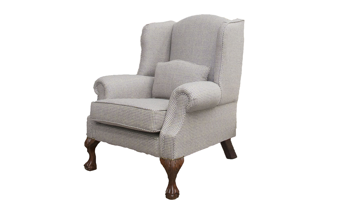 King Chair in Ilkley Col Heather - Art of Loom