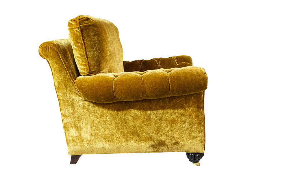 La Scala Chair, Deep Button Arms, Discontinued Fabric