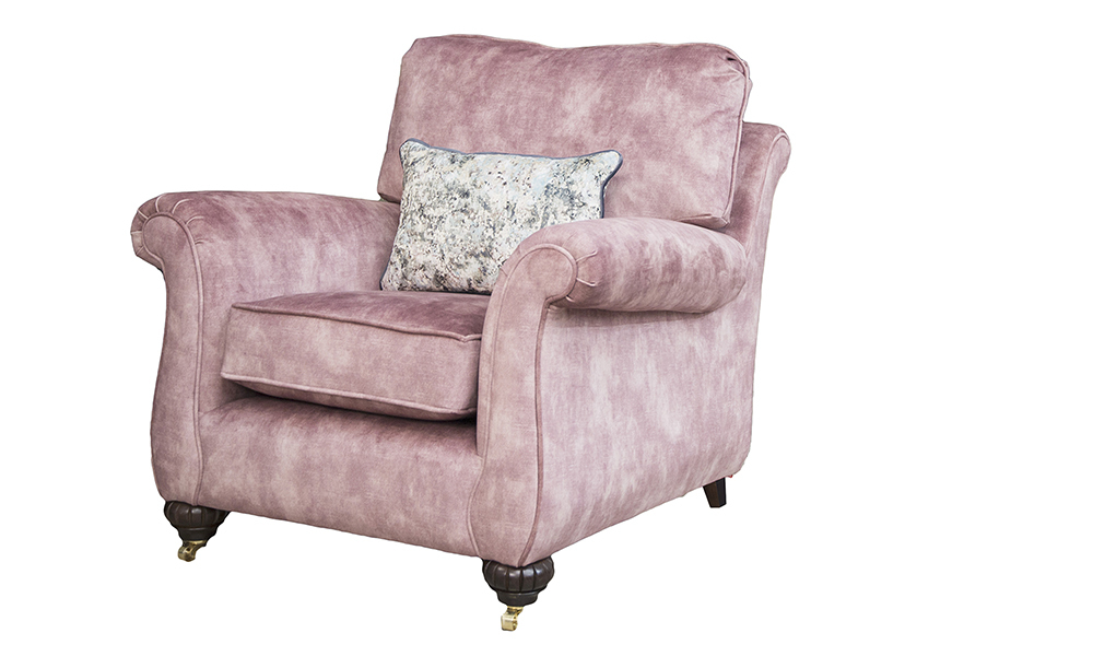 La Scala Chair in Lovely Dusk, Gold Collection Fabric