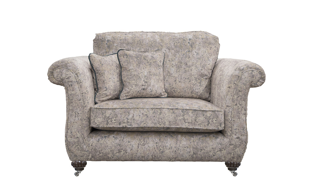 Lafayette Love Seat in Igloo Cloud, Platinum Collection fabric