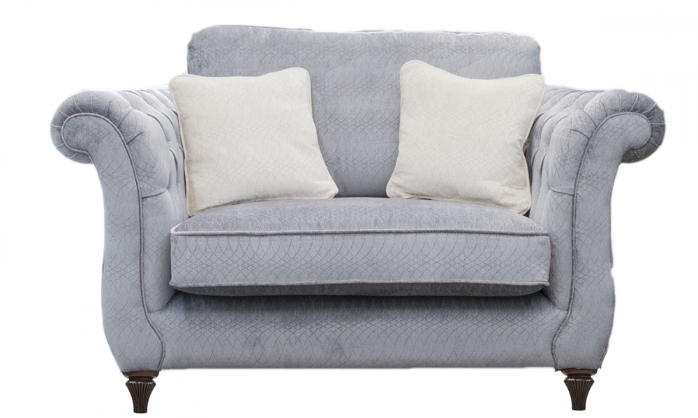 Lafayette Love Seat with  with Deep Buttons Arms (bespoke option)  in a Discontinued Fabric
