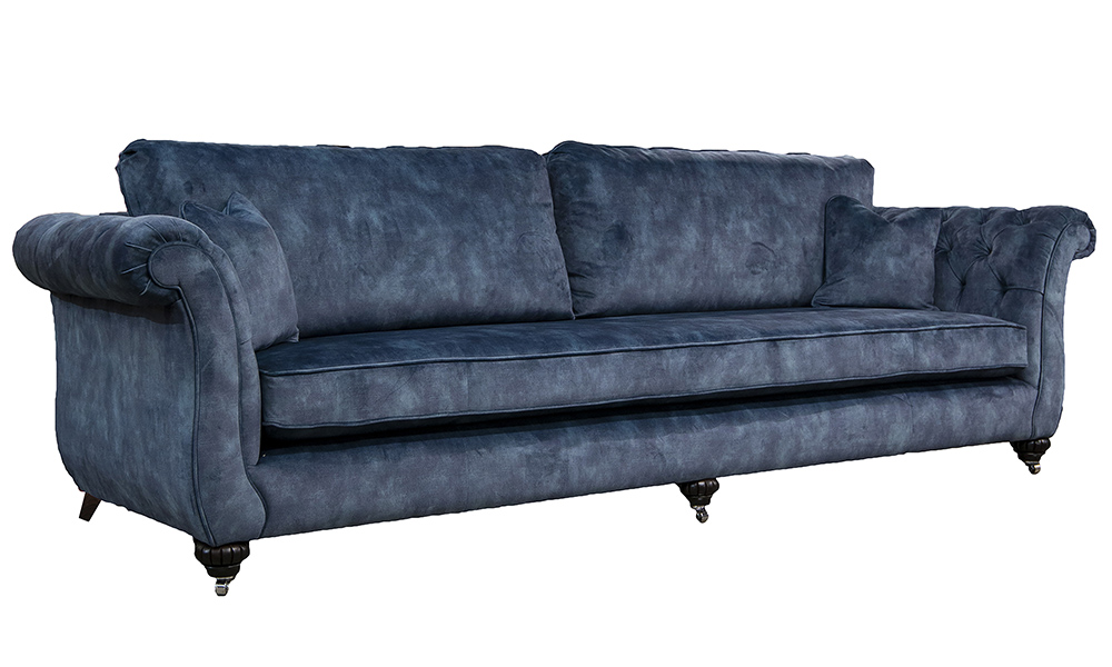 Grand Lafayette Sofa in Lovely Atlantic, Gold Collection Fabric