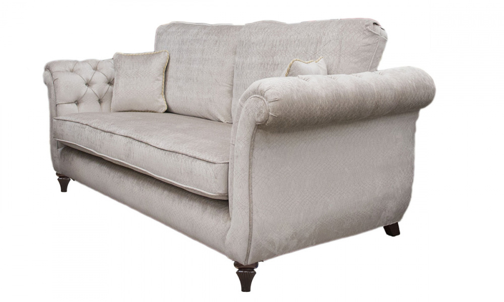 Lafayette 2 Seater Sofa with Deep Buttons Arms  (bespoke option) in a Platinum Collection Fabric