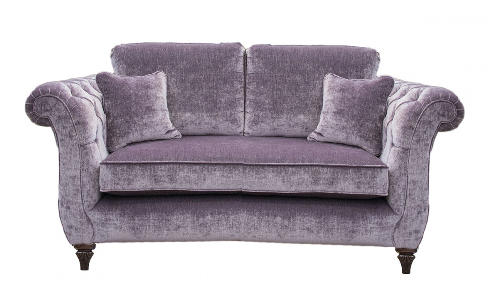 Lafayette 2 Seater Sofa with Deep Buttons Arms (bespoke option)  in a Gold Collection Fabric