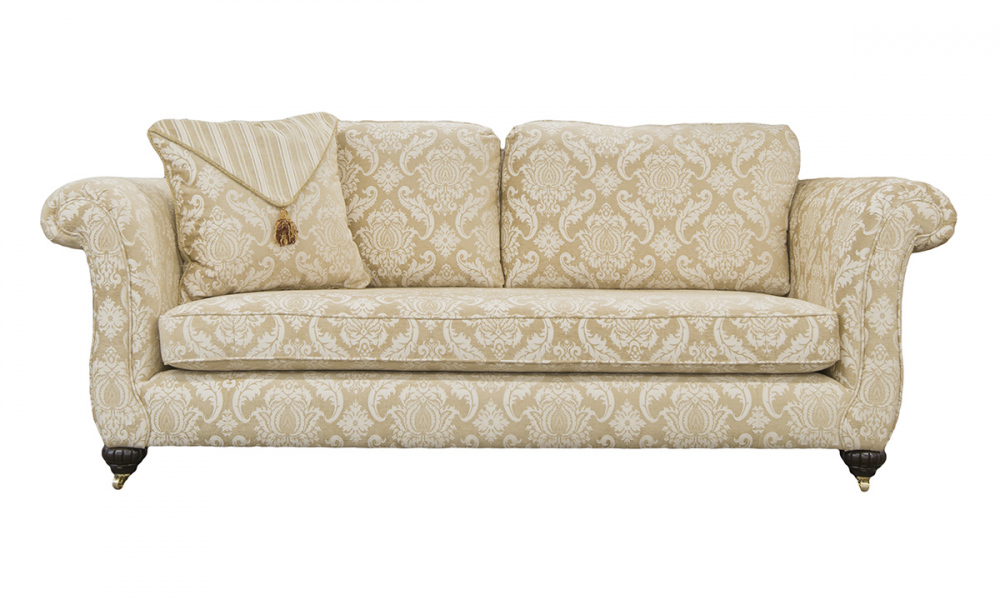 Lafayette 3 Seater Sofa in Tolstoy Straw Pattern, Platinum Collection Fabric