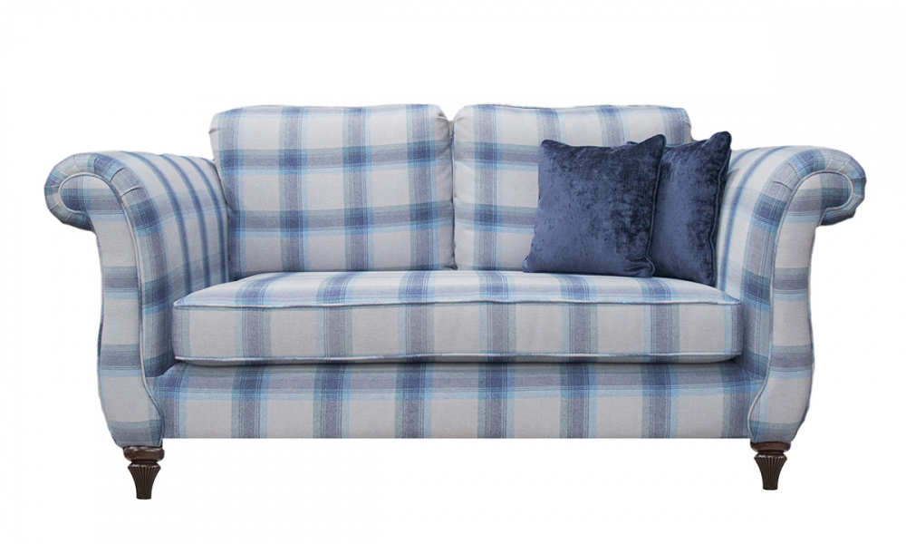 Lafayette 2 Seater Sofa in Aviemore Wedgewood Silver Collection Fabric