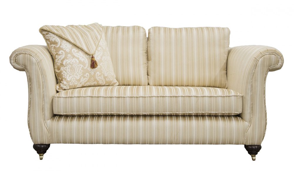 Lafayette 2 Seater Sofa in Tolstoy Straw Stripe, Platinum Collection Fabric