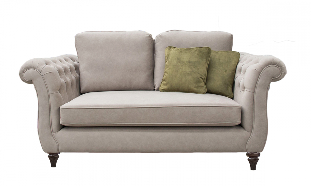Lafayette 2 Seater Sofa with Deep Buttons Arms (bespoke option) in Ross Dunbar sr19065 Mole