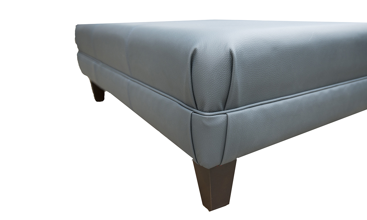 Leather Ottoman in Chelsea